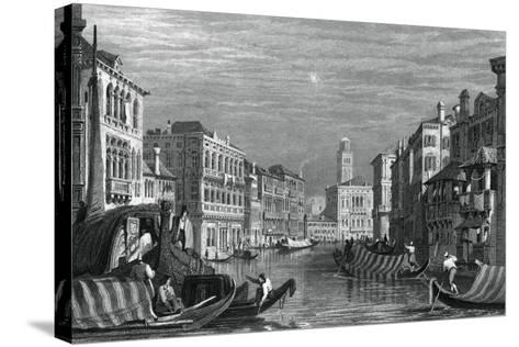 The Grand Canal, Venice, C19th Century-Sam Fisher-Stretched Canvas Print