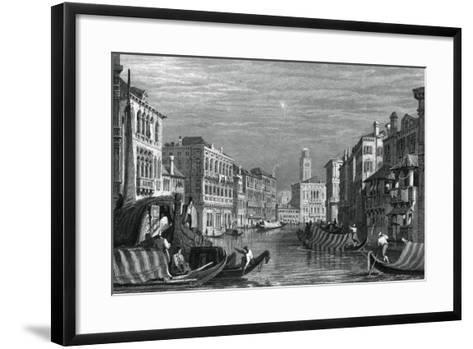 The Grand Canal, Venice, C19th Century-Sam Fisher-Framed Art Print
