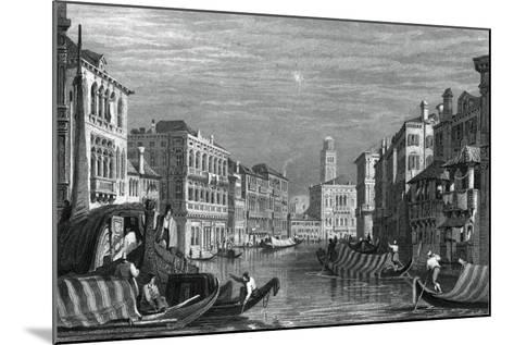 The Grand Canal, Venice, C19th Century-Sam Fisher-Mounted Giclee Print