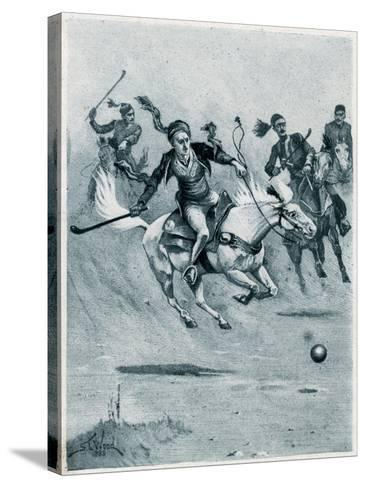 Game of Polo, 1888-Stanley L Wood-Stretched Canvas Print
