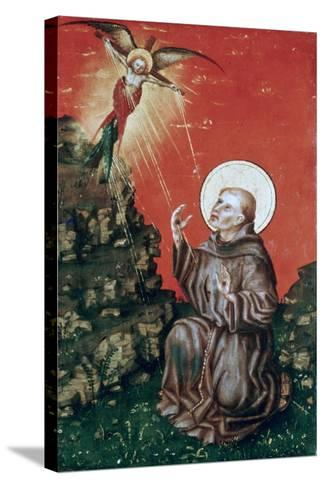 St Francis Receiving the Stigmata, C1430-1451-Stephan Lochner-Stretched Canvas Print