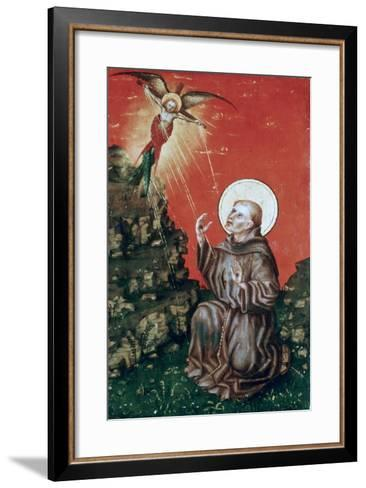 St Francis Receiving the Stigmata, C1430-1451-Stephan Lochner-Framed Art Print