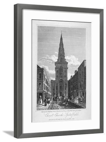 View of Christ Church, Spitalfields, London, 1817-Thomas Higham-Framed Art Print