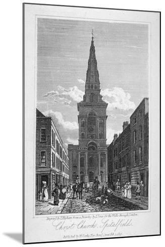 View of Christ Church, Spitalfields, London, 1817-Thomas Higham-Mounted Giclee Print