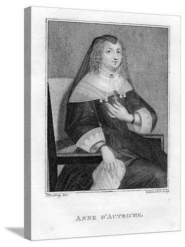 Anne of Austria, 19th Century- Scheneker-Stretched Canvas Print