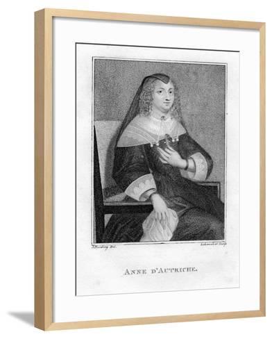 Anne of Austria, 19th Century- Scheneker-Framed Art Print