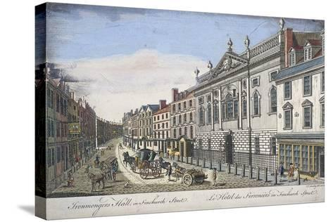 Ironmongers' Hall, London, C1750-T Loveday-Stretched Canvas Print