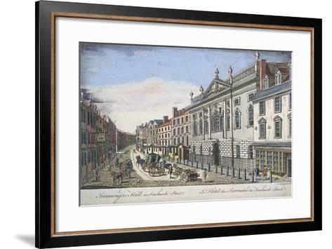Ironmongers' Hall, London, C1750-T Loveday-Framed Art Print