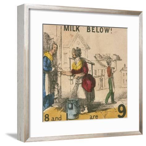 Milk Below!, Cries of London, C1840-TH Jones-Framed Art Print