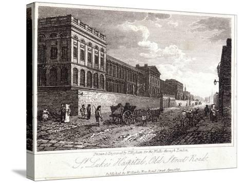View of St Luke's Hospital, Old Street, Finsbury, London, 1817-Thomas Higham-Stretched Canvas Print