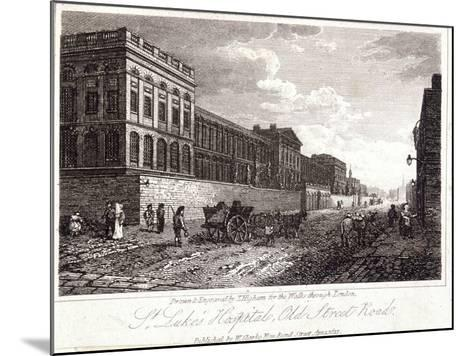 View of St Luke's Hospital, Old Street, Finsbury, London, 1817-Thomas Higham-Mounted Giclee Print