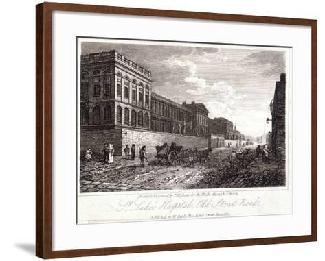 View of St Luke's Hospital, Old Street, Finsbury, London, 1817-Thomas Higham-Framed Art Print