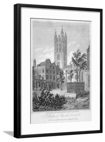 View from the South of Church of St Michael, Cornhill, City of London, 1816-Thomas Higham-Framed Art Print