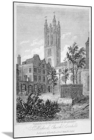 View from the South of Church of St Michael, Cornhill, City of London, 1816-Thomas Higham-Mounted Giclee Print