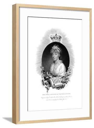Her Royal Highness the Princess Augusta, Second Daughter of George Iii, 1806- Scriven-Framed Art Print