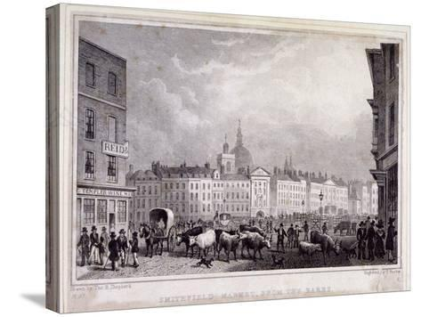 View of Smithfield Market from the Barrs, London, 1830-Thomas Barber-Stretched Canvas Print