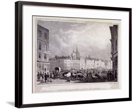 View of Smithfield Market from the Barrs, London, 1830-Thomas Barber-Framed Art Print