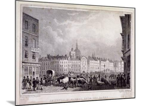 View of Smithfield Market from the Barrs, London, 1830-Thomas Barber-Mounted Giclee Print