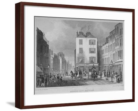 Middle Row, Holborn, London, 1829-Thomas Barber-Framed Art Print