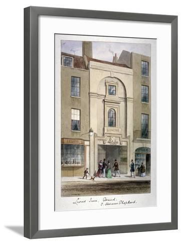 Lyon's Inn, Strand, Westminster, London, C1850-Thomas Hosmer Shepherd-Framed Art Print