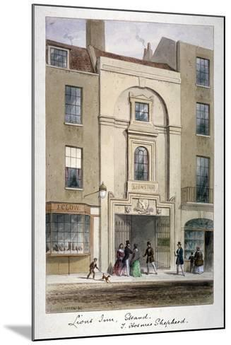 Lyon's Inn, Strand, Westminster, London, C1850-Thomas Hosmer Shepherd-Mounted Giclee Print