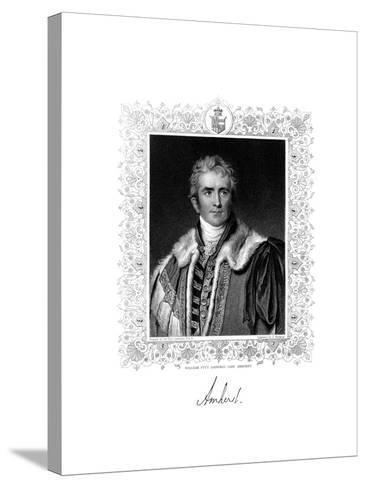 William Pitt Amherst, 1st Earl Amherst, British Statesman and Diplomat, 19th Century-S Freeman-Stretched Canvas Print