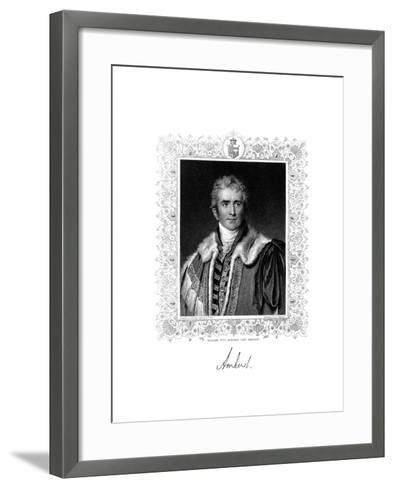 William Pitt Amherst, 1st Earl Amherst, British Statesman and Diplomat, 19th Century-S Freeman-Framed Art Print