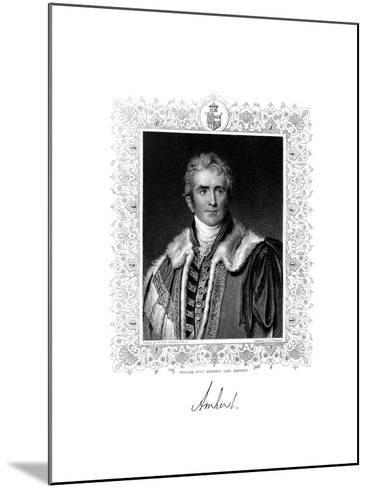 William Pitt Amherst, 1st Earl Amherst, British Statesman and Diplomat, 19th Century-S Freeman-Mounted Giclee Print