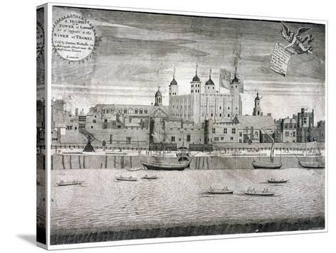 Tower of London, C1750-Sutton Nicholls-Stretched Canvas Print