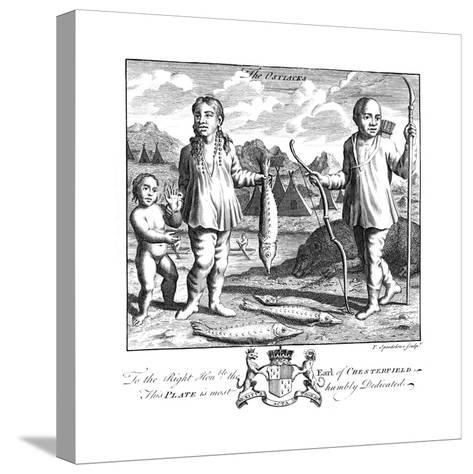The Ostiacks, 19th Century-T Spendelone-Stretched Canvas Print