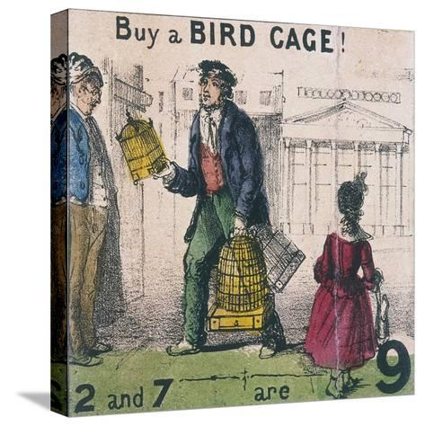 Buy a Bird Cage!, Cries of London, C1840-TH Jones-Stretched Canvas Print