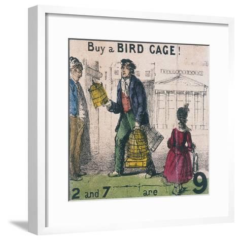 Buy a Bird Cage!, Cries of London, C1840-TH Jones-Framed Art Print