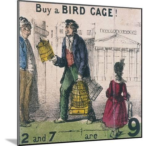 Buy a Bird Cage!, Cries of London, C1840-TH Jones-Mounted Giclee Print