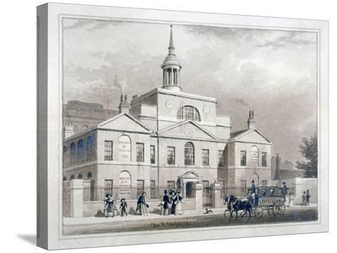 City of London Lying-In Hospital, City Road, Finsbury, London, C1827-Thomas Hosmer Shepherd-Stretched Canvas Print