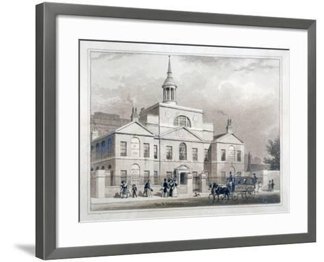 City of London Lying-In Hospital, City Road, Finsbury, London, C1827-Thomas Hosmer Shepherd-Framed Art Print