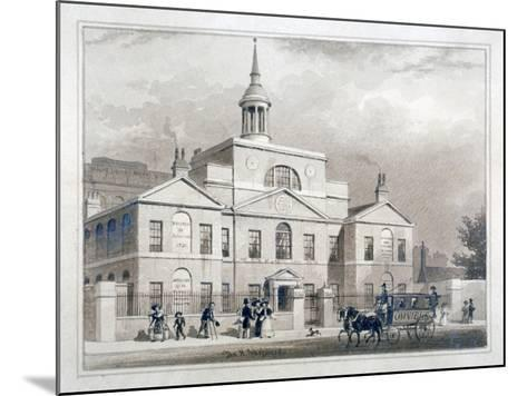 City of London Lying-In Hospital, City Road, Finsbury, London, C1827-Thomas Hosmer Shepherd-Mounted Giclee Print