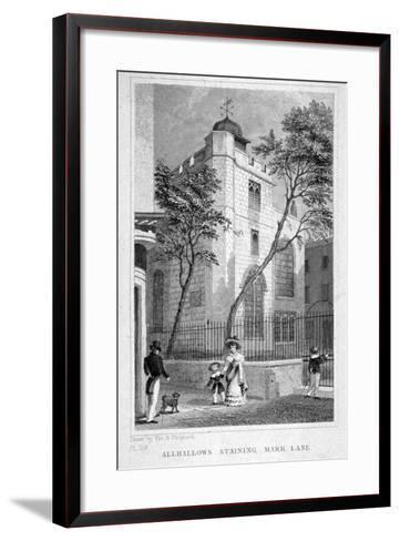Church of All Hallows Staining, London, 1829-Thomas Hosmer Shepherd-Framed Art Print