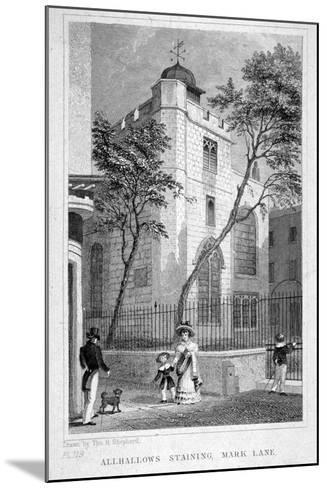 Church of All Hallows Staining, London, 1829-Thomas Hosmer Shepherd-Mounted Giclee Print