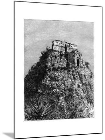 Uxmal, Pre-Columbian Ruined City of the Mayan Civilization, Yucatán, Mexico, 19th Cen-T Taylor-Mounted Giclee Print