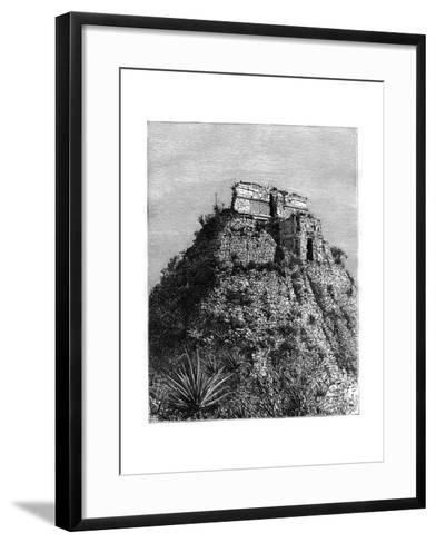 Uxmal, Pre-Columbian Ruined City of the Mayan Civilization, Yucatán, Mexico, 19th Cen-T Taylor-Framed Art Print