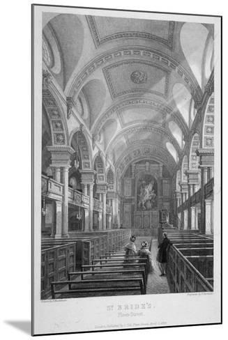 St Bride's Church, Fleet Street, City of London, 1839-T Turnbull-Mounted Giclee Print