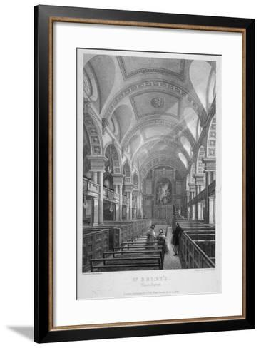 St Bride's Church, Fleet Street, City of London, 1839-T Turnbull-Framed Art Print