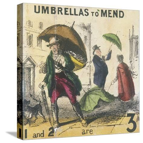 Umbrellas to Mend, Cries of London, C1840-TH Jones-Stretched Canvas Print