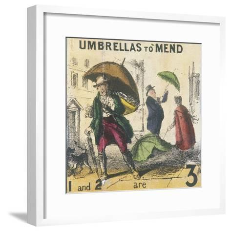 Umbrellas to Mend, Cries of London, C1840-TH Jones-Framed Art Print