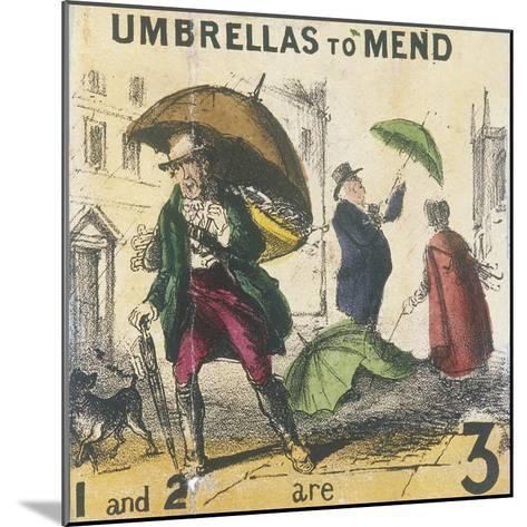 Umbrellas to Mend, Cries of London, C1840-TH Jones-Mounted Giclee Print