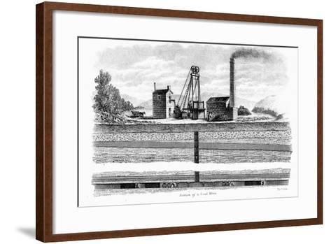 Section of a Coal Mine, 1860-Thomas Dick-Framed Art Print