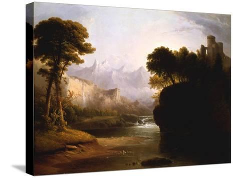Fanciful Landscape, 1834-Thomas Doughty-Stretched Canvas Print