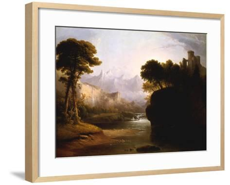 Fanciful Landscape, 1834-Thomas Doughty-Framed Art Print