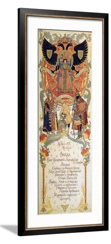 Menu of the Feast Meal to Celebrate of the 300th Anniversary of the Romanov Dynasty, 1913-Sergei Yaguzhinsky-Framed Art Print