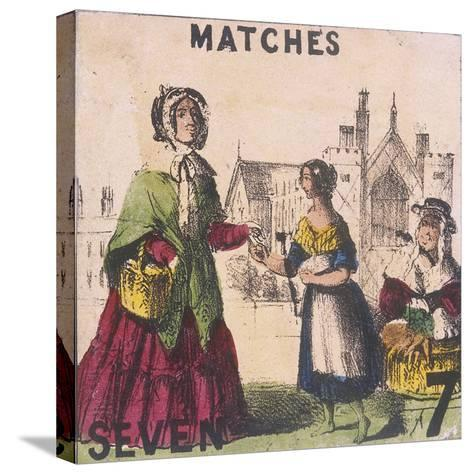 Matches, Cries of London, C1840-TH Jones-Stretched Canvas Print